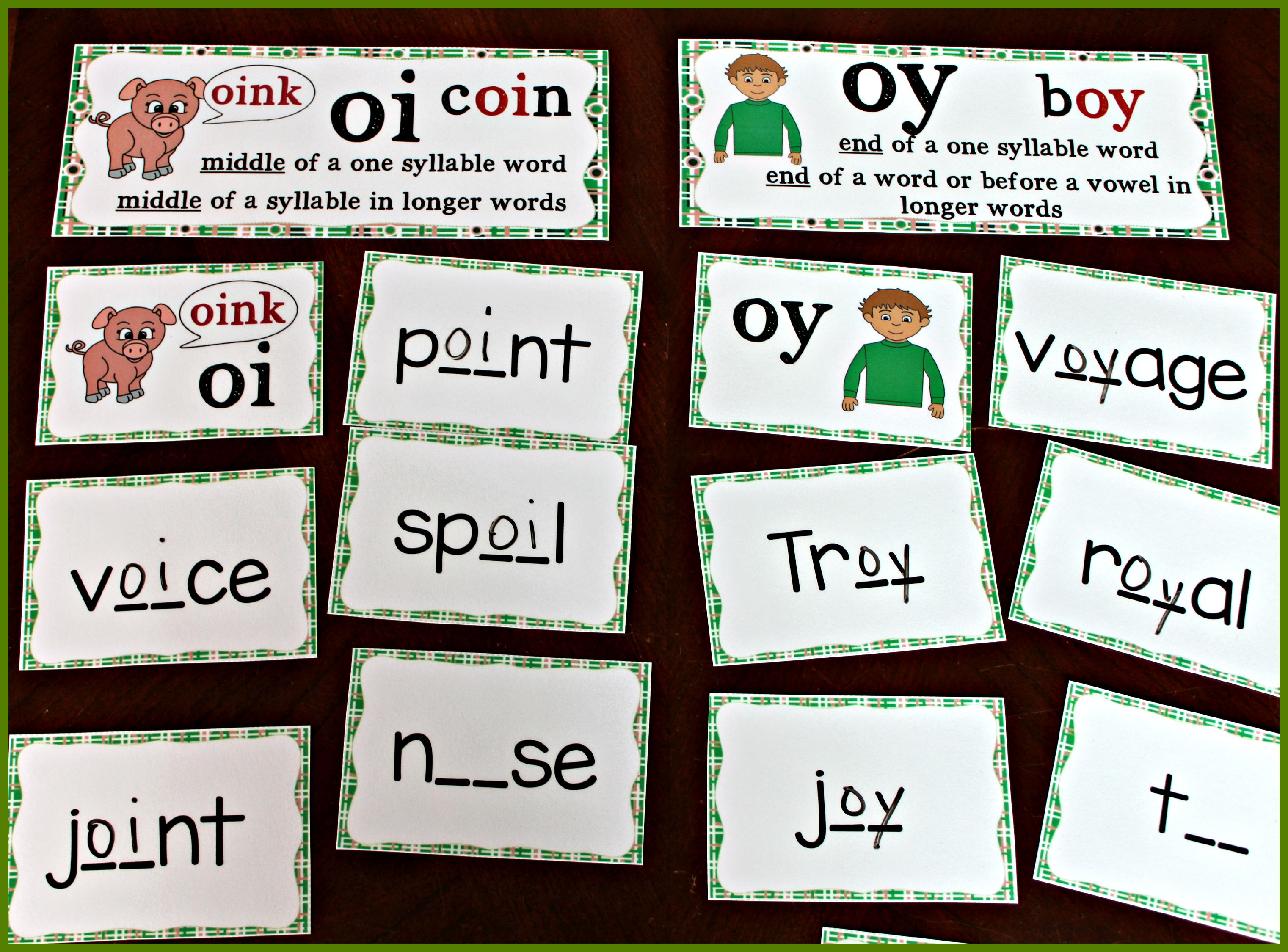 Dipthongs Ou Ow Oi Oy Board Game Spelling Amp Phonics