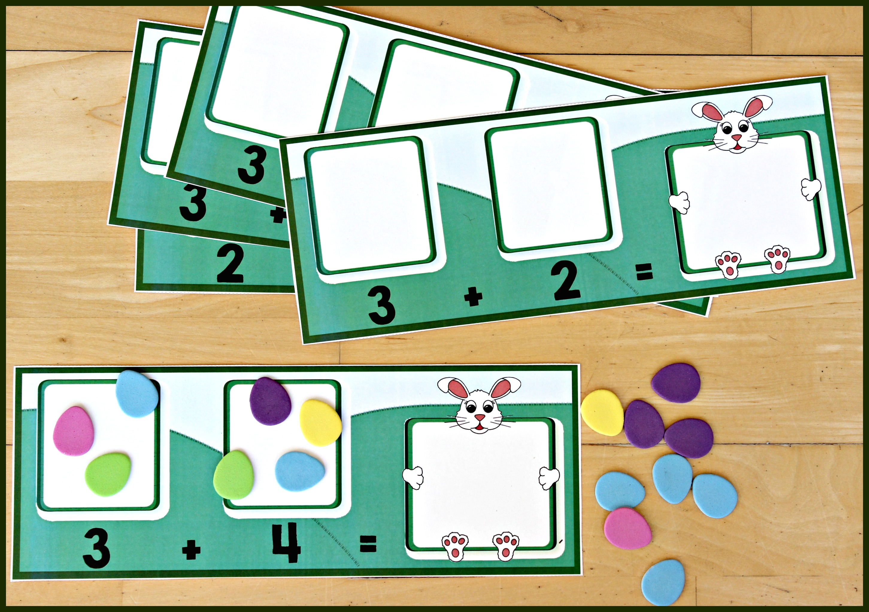 Spring Themed Math Activity Bunny Addition
