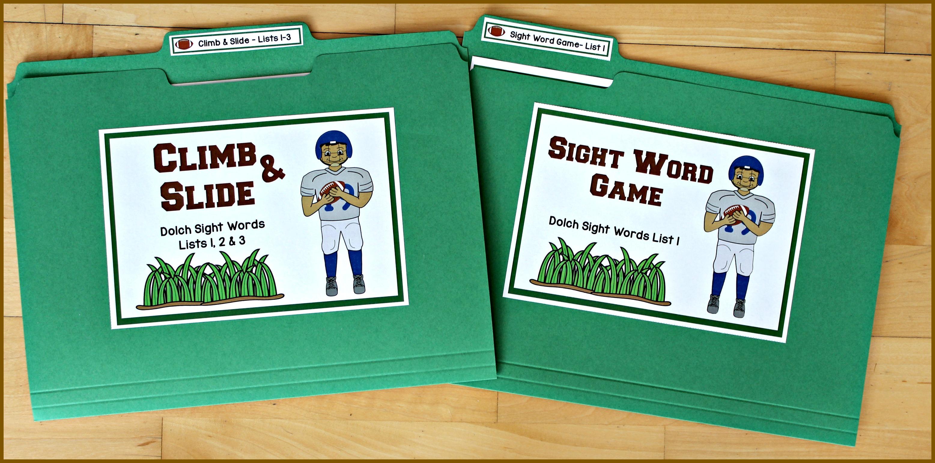 Football Themed Sight Word Activities