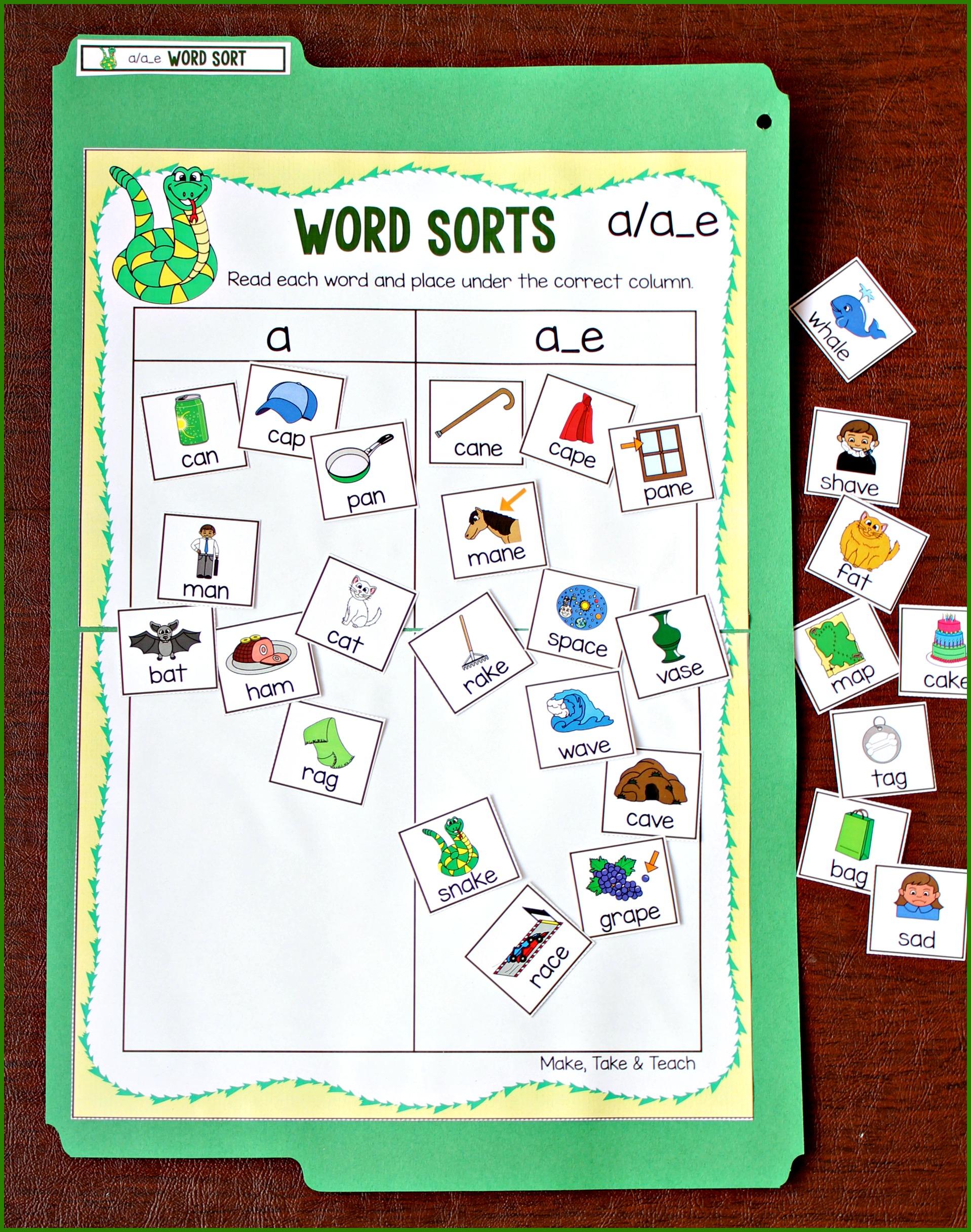 Teaching The Magic E Rule Using Word Sorts