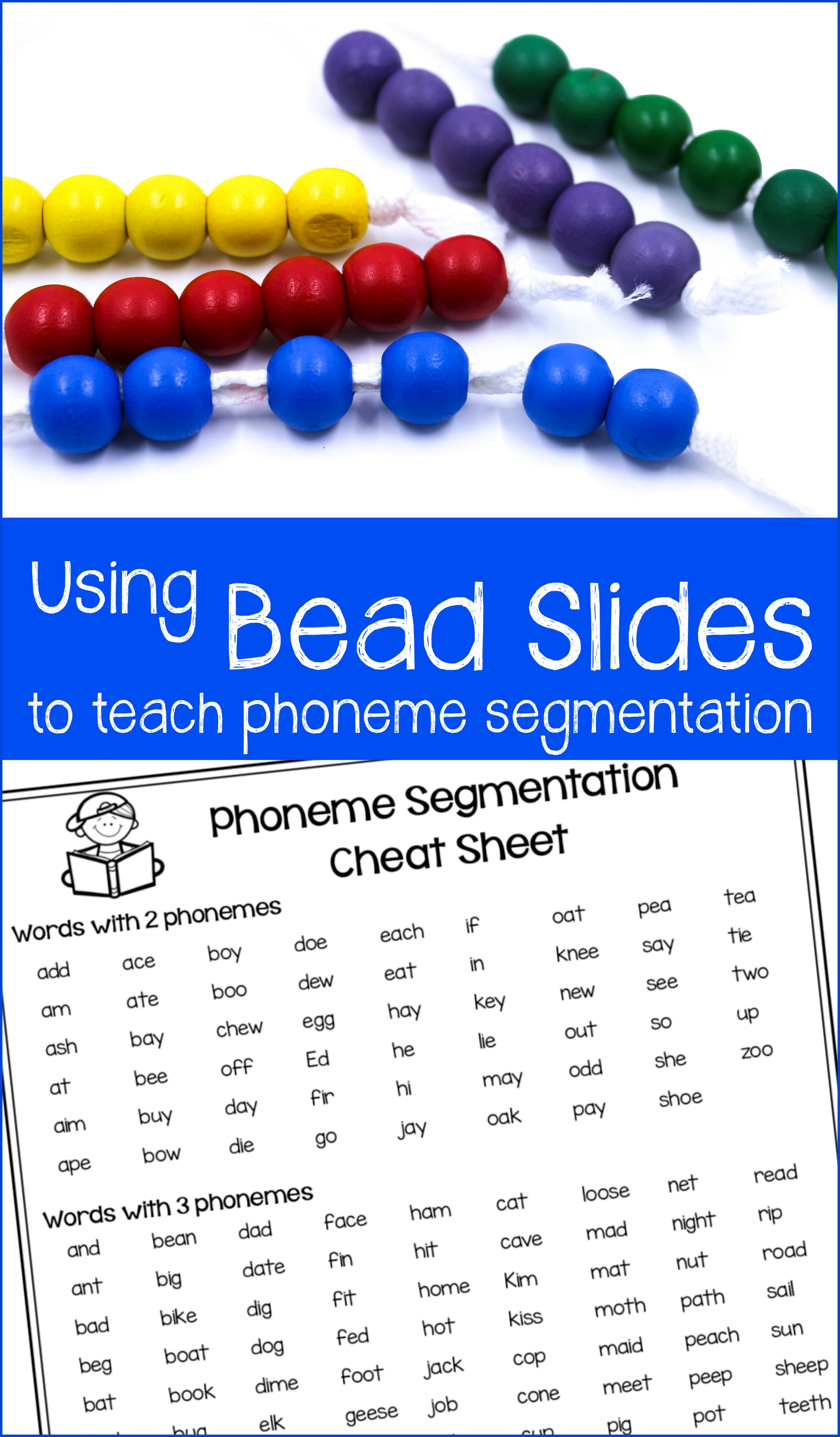 Phoneme Segmentation Freebie