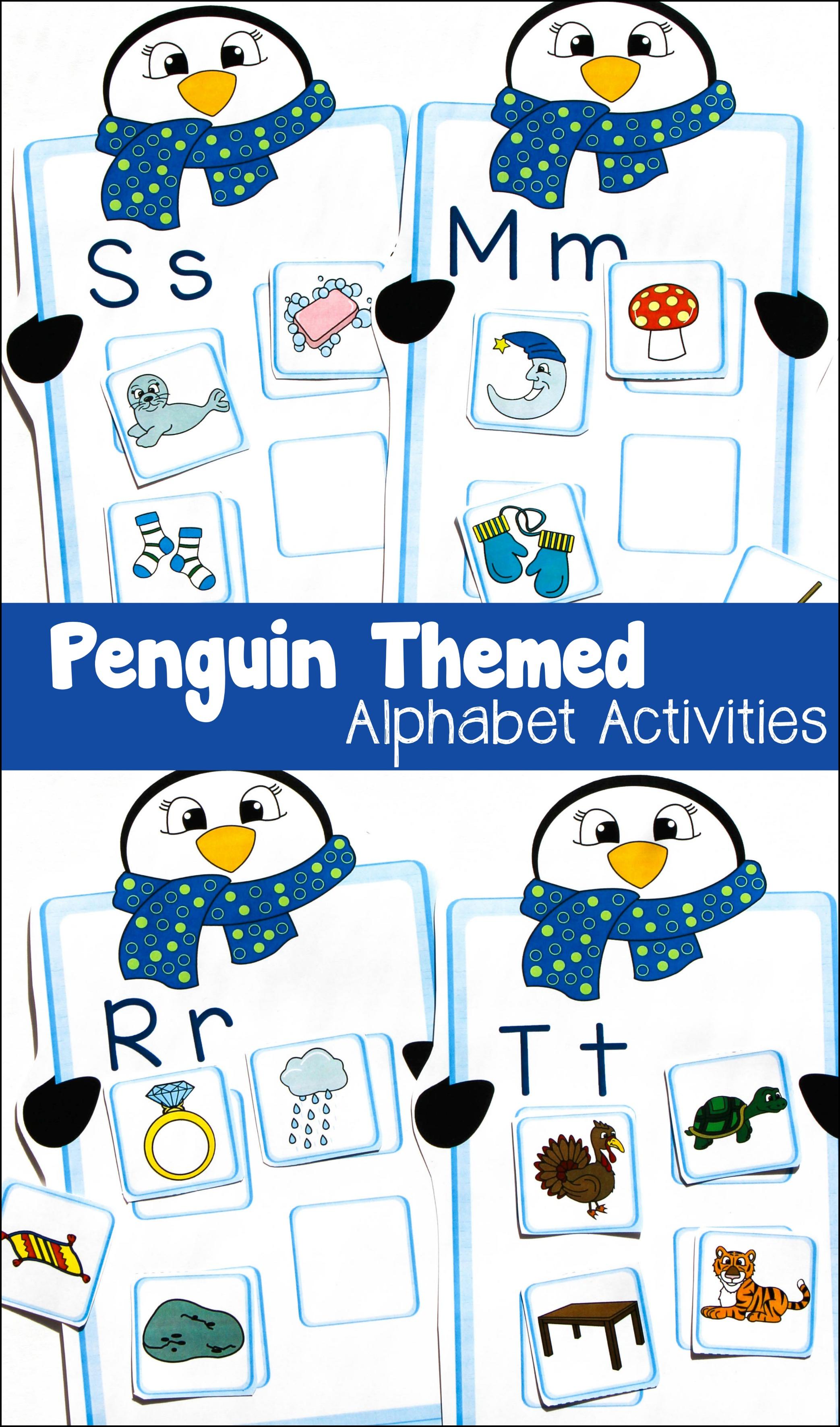 Penguin Themed Alphabet Match Activity