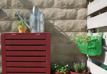 Garden Table & Hanging Planter