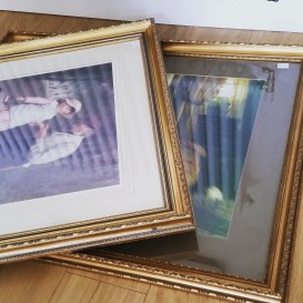 2 x enormous gilt frames - £15