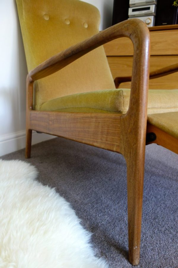 teak mid century chair