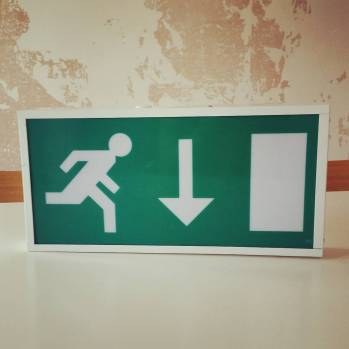 Emergency exit sign - £2.50