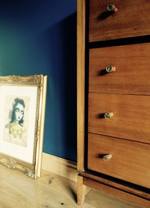 Gilt frame - £20 and Drawers in situ