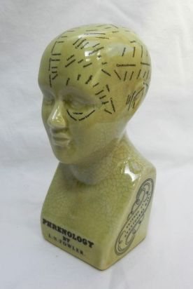 green phrenology head
