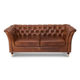 Caesar Leather 2 Seater Sofa