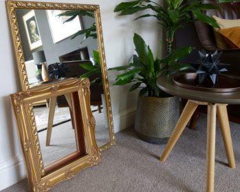 Gold leaf frame & mirror - £12 for both