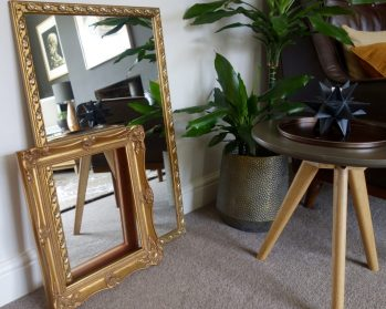 Gold leaf frame & mirror - £12 for both