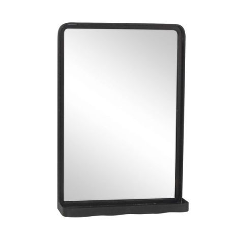 Metal Mirror with Shelf - Dunelm