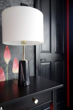 Black marble lamp from Made