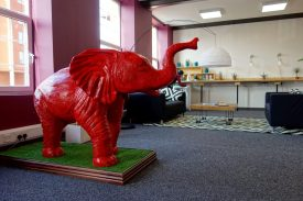 The big red elephant