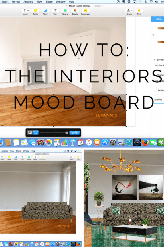 Ever wondered how to create your own room edit or interiors mood board?