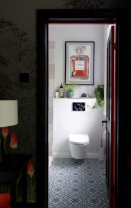 The ensuite bathroom