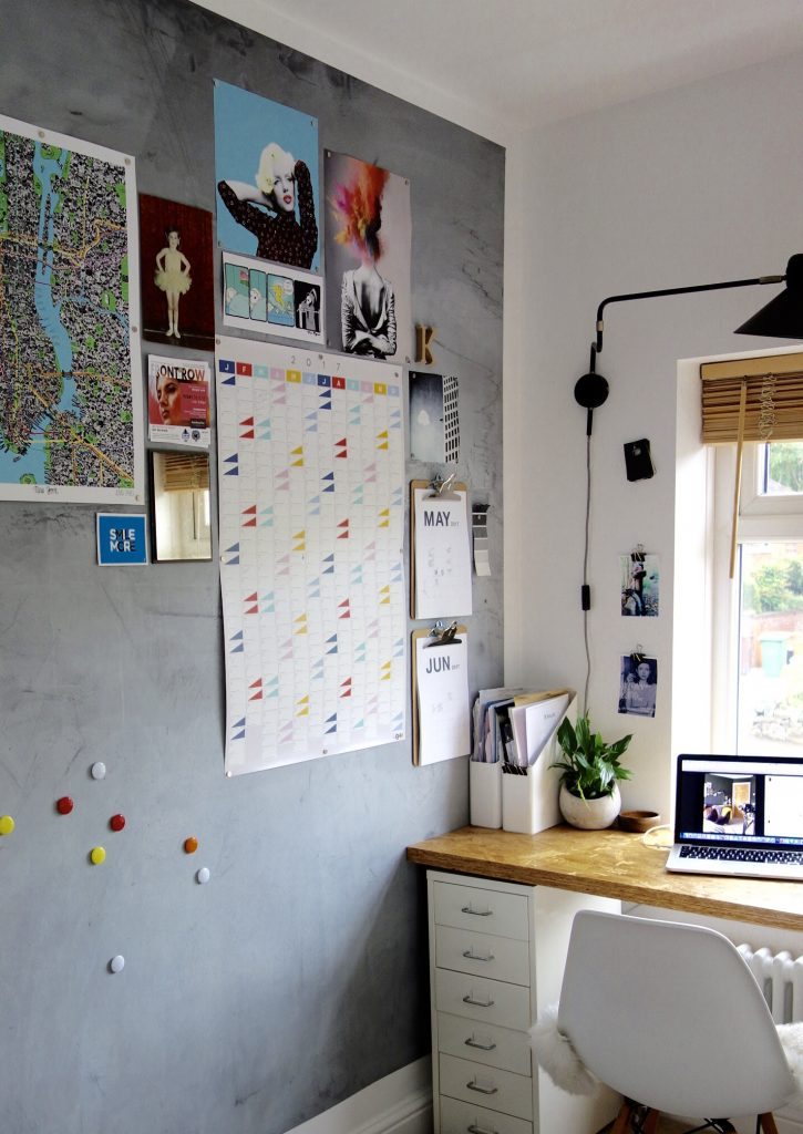 Home office with Magnetic wall and OSB Desk