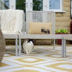 Outdoor Rug Samti in Beige