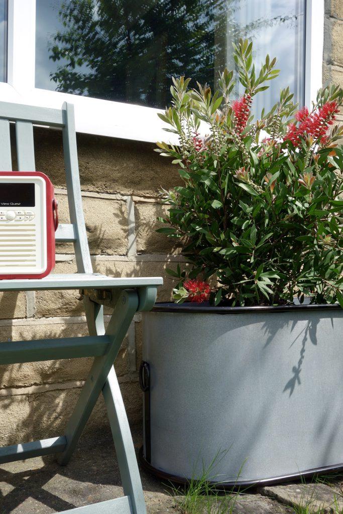 Abingdon Vintage Zinc Trough Planter
