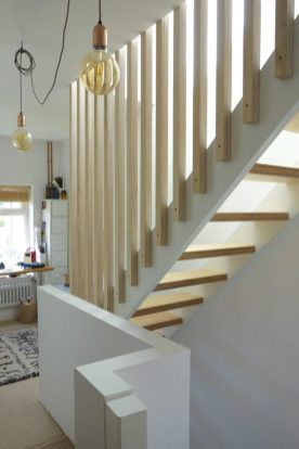 Full height birch ply spindles