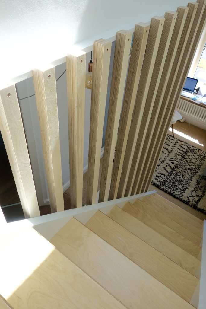 Full height spindles and picture ledge