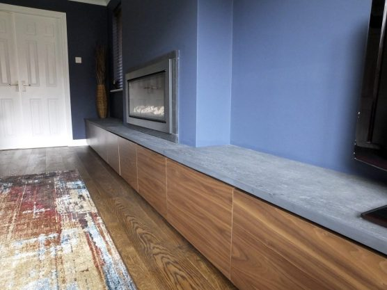Walnut unit with slate top