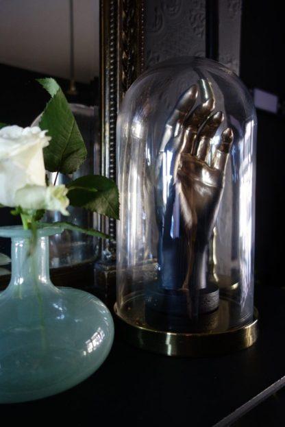 Muck n Brass Hand in Glass Cloche