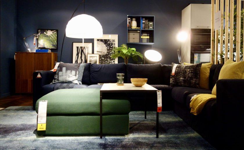 Dark Interior Ikea Room Set
