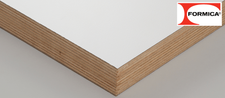 White faced plywood