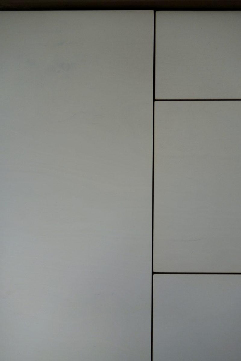 translucent white finish