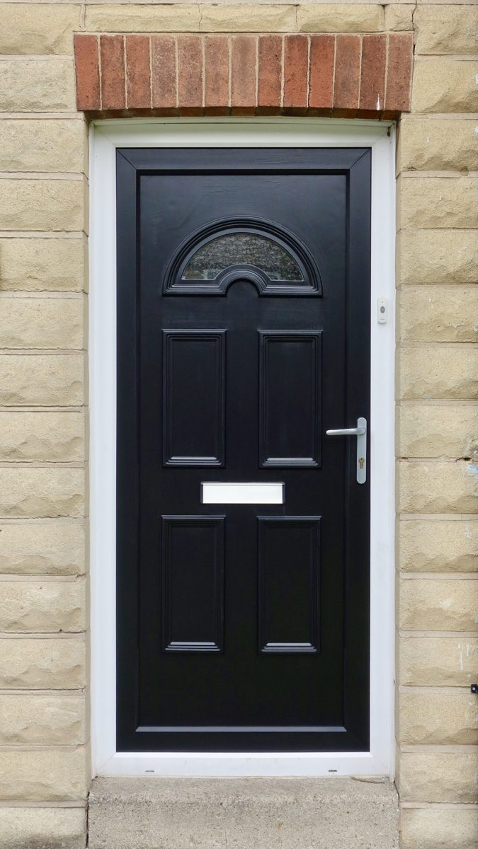 Painting UPVC Black Door
