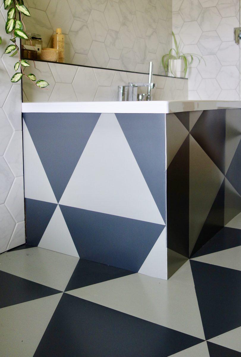 Colour Flooring Rubber Triangle Tiles