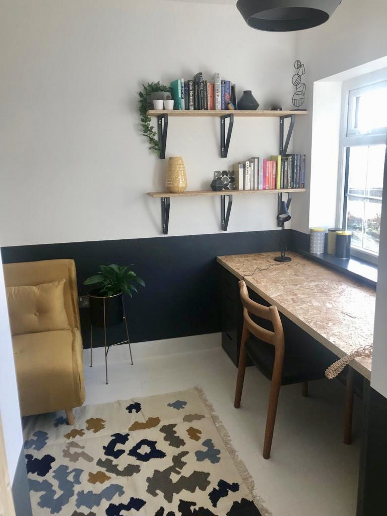 Garage converted to home office