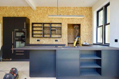 OSB Kitchen Wall