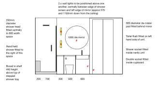 Bathroom Detailed Measurements