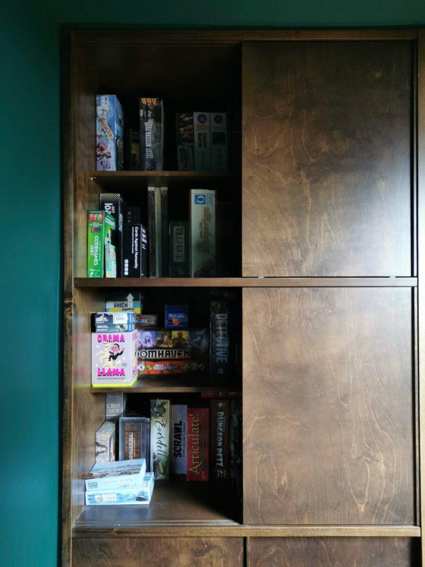 Board games storage