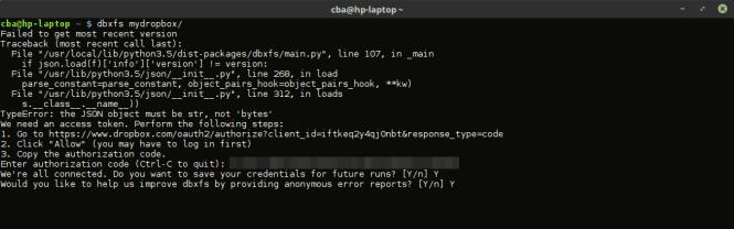 Dropbox sous Linux - configuration