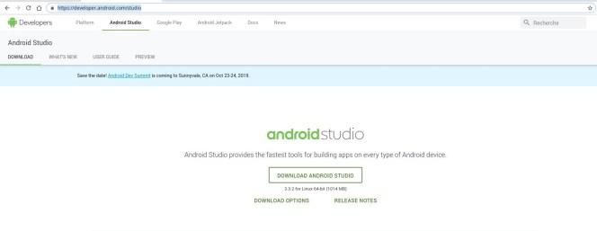 Android Studio download link