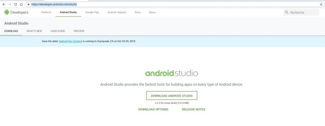 Android Studio download link