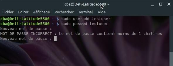 Test Assignment mot de passe complexe