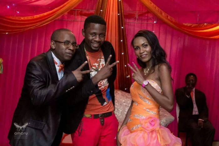 Piksy with the newly weds