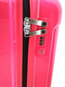 Cremallera de maleta de cabina con cierre de seguridad con combinacion de 3 dígitos
