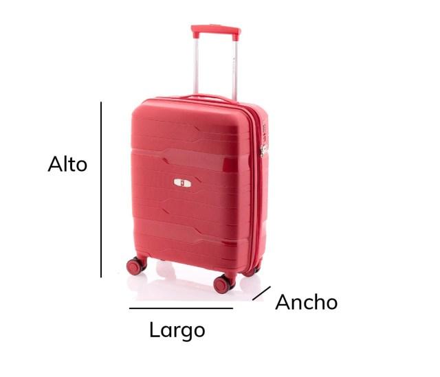 como medir una maleta