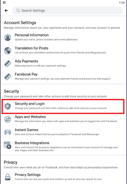 security and login
