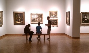 Satellite students study Northern Baroque works in the Collection galleries.