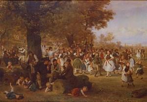 Ludwig Knaus, Dance Under the Linden Tree (Festival in Westphalia), 1881. Gift of the René von Schleinitz Foundation. Photo credit P. Richard Eells