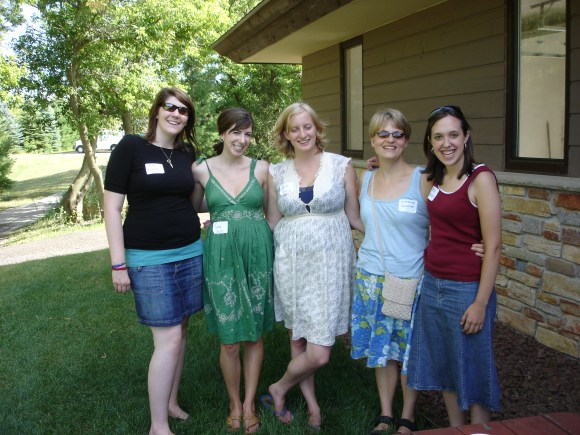 The Fine Arts Society summer parties are always fun for interns. Here we are out in the Kettle Moraine on a perfect summer day in 2007. Left to right: Lizzie Kiefer, Laura Schultz, Alyssa Larkin, Catherine Sawinski, Stacy Adamson