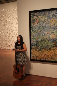 "Mowpunzor wrote and performed a song inspired by Vik Muniz' ""Wheat Field with Cypresses after Van Gogh."""