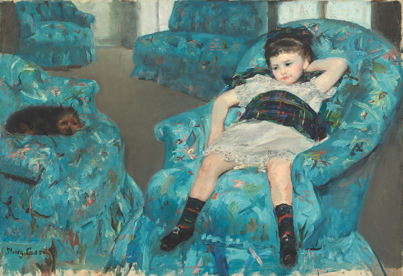 Mary Cassatt (American, 1844-1926), Little Girl in a Blue Armchair, 1878. Oil on canvas, 89.5 x 129.8 cm. National Gallery of Art, Collection of Mr. and Mrs. Paul Mellon 1983.1.18.