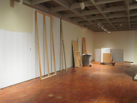 The Museum's Decorative Arts gallery emptied of artwork. Photo by the author.
